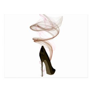 Cartão Postal Arte dos calçados do estilete de Smokin