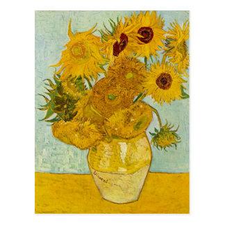 Cartão Postal Arte dos girassóis de Vincent van Gogh