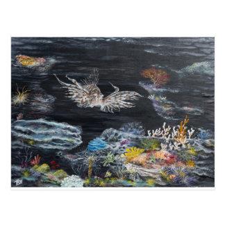 Cartão Postal Arte dos peixes sobre