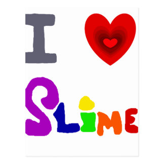 Cartão Postal Arte engraçada do limo do amor de I