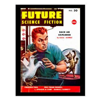 Cartão Postal Arte futura do _Pulp do setembro de 1956