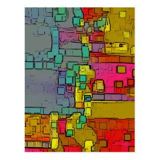 """Cartão Postal Arte geométrica do """"metro"""""""
