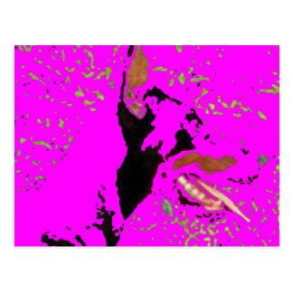 Cartão Postal arte impar do pinscher do doberman