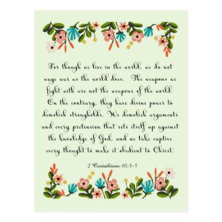 Cartão Postal Arte inspirada cristã - 2 10:3 dos Corinthians - 5