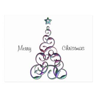 Cartão Postal Arte moderna da árvore de Natal