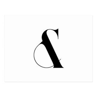 Cartão Postal Arte moderna minimalista do Ampersand