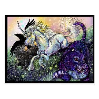 Cartão Postal Arte Mystical mágica ideal de Gaurdians