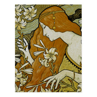 Cartão Postal Arte Nouveau de L'Ermitage