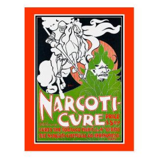 Cartão Postal Arte Nouveau Poscard:  A Narcoti-Cura perto