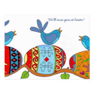 Cartão Postal Arte popular do ucraniano das bênçãos do primavera