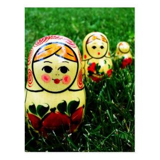 Cartão Postal Arte popular do ucraniano de Matryoshka