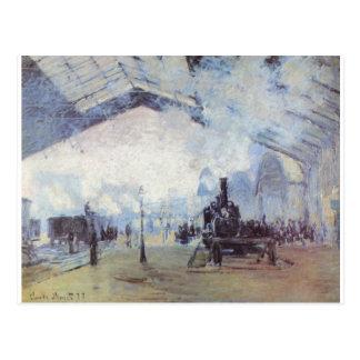 Cartão Postal Arte popular do vintage do estação de