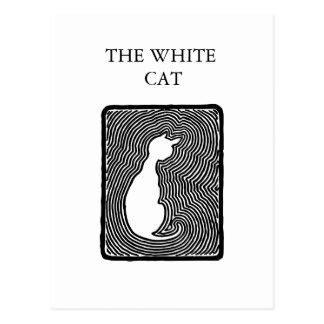 Cartão Postal Arte preto e branco do vetor o modelo branco do