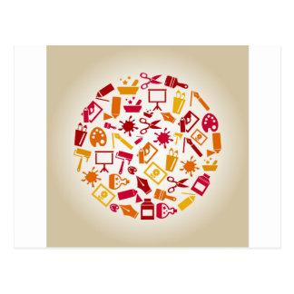 Cartão Postal Arte um círculo