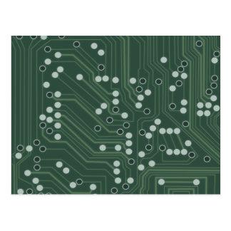 Cartão Postal Arte verde do teste padrão do fundo do conselho de