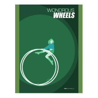 Cartão Postal Artes do circo de Brattleboro - rodas maravilhosos