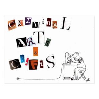 Cartão Postal artes e artesanatos criminosos