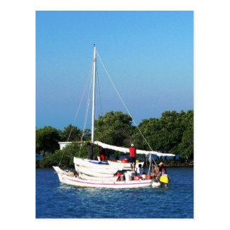 Cartão Postal Artesanato da pesca e skiffs, Belize