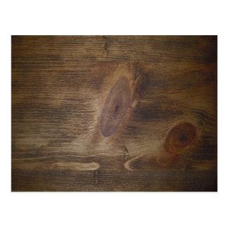 Cartão Postal Artigos de papelaria de madeira rústicos de Brown