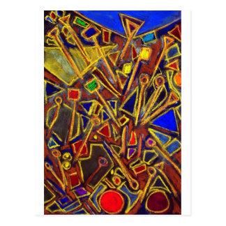 Cartão Postal Artigos de papelaria dispersados (expressionism