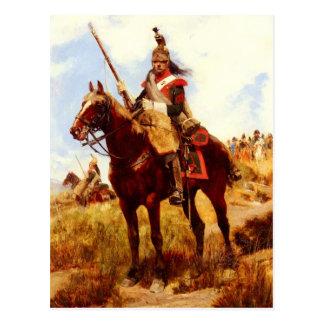 Cartão Postal Artilleur um Cheval