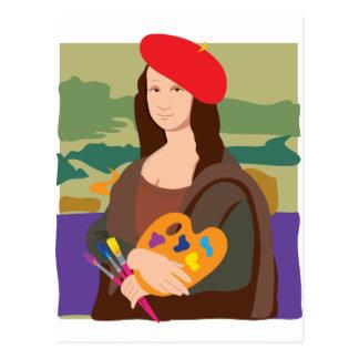 Cartão Postal Artista de Mona Lisa