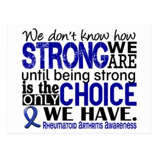 Cartão Postal Artrite reumatóide como forte nós somos
