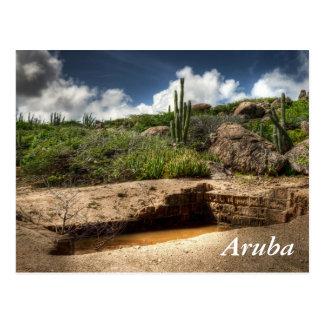 Cartão Postal Aruba, a precipitação dourada acaba-se