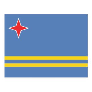 Cartão Postal Aruba - bandeira de Aruban