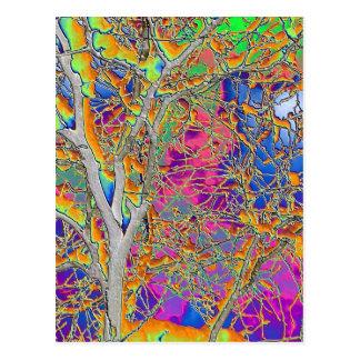 Cartão Postal Árvore abstrata