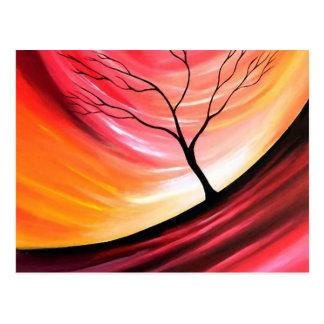 Cartão Postal Árvore abstrata - arte moderna