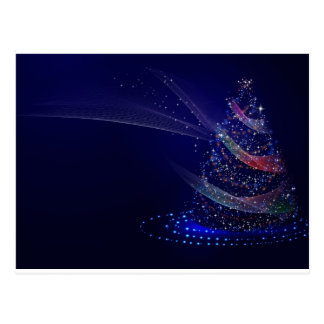 Cartão Postal Árvore azul bonita