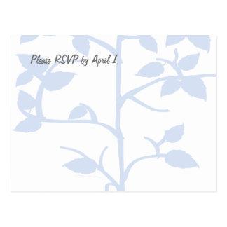 Cartão Postal Árvore azul pálido RSVP