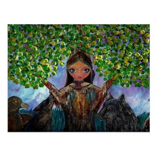 Cartão Postal Árvore Cherokee