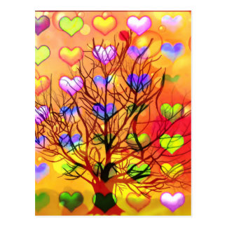 Cartão Postal Árvore da alegria com lareira múltipla