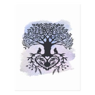 Cartão Postal Árvore da arte popular de vida