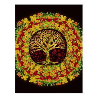 Cartão Postal Árvore da mudança constante da vida