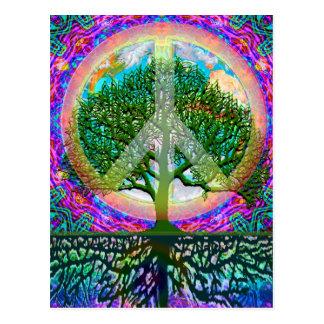 Cartão Postal Árvore da paz da vida
