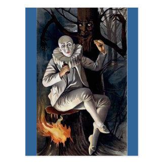 Cartão Postal Árvore de floresta assustador do darl do mime do
