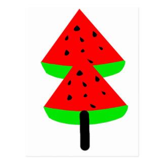 Cartão Postal árvore de fruta da melancia