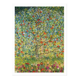 Cartão Postal Árvore de Gustavo Klimt Apple