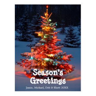 Cartão Postal Árvore de Natal com luzes fora