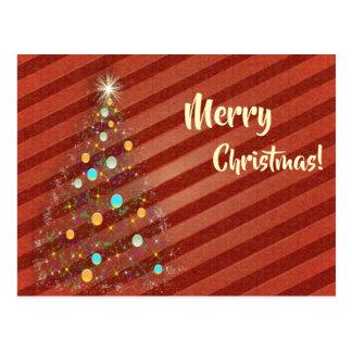 Cartão Postal Árvore de Natal da tira dos doces
