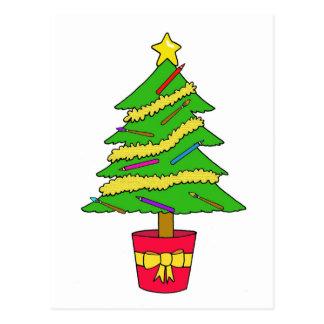 Cartão Postal Árvore de Natal do artista