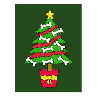 Cartão Postal Árvore de Natal do osso de cão