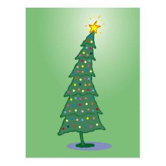 Cartão Postal Árvore de Natal do verde oh