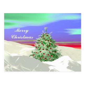Cartão Postal Árvore de Natal dos corações