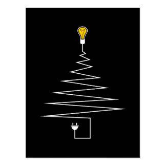 Cartão Postal Árvore de Natal elétrica