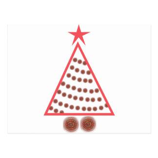 Cartão Postal Árvore de Natal frisada
