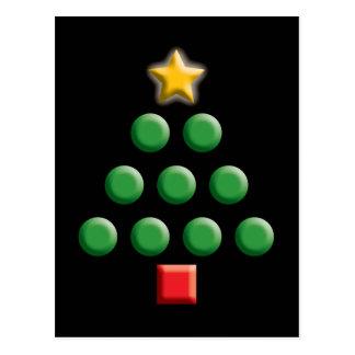Cartão Postal Árvore de Natal gráfica